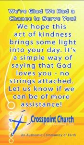Servant Evangelism Card Front